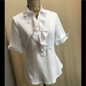 CAbi button up white blouse